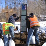 Newly created signs and maps were installed throughout the system in the winter of 2007-8